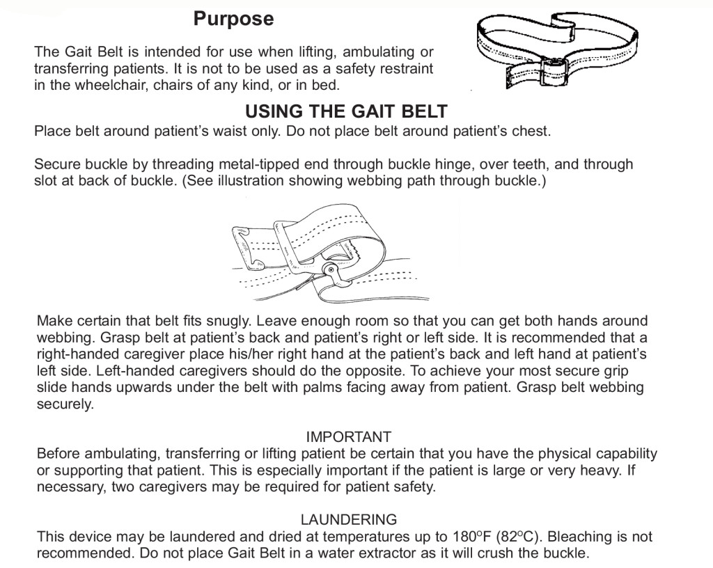 How to Put on a Gait Belt